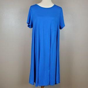"LuLaRoe ""Carly"" Royal Blue Dress Size L"